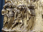 Florence - Baptistery Panel of the Door of Paradise