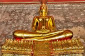 Gold Big Buddha statue at Bangkok Thailand