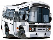 stock photo of motor coach  - Vector cartoon bus - JPG