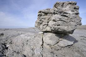 picture of errat  - Limestone Glacial Erratic Boulder - JPG