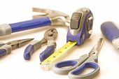 Focus On Tape Measure And Tools
