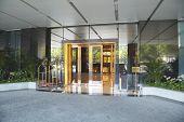Hotel entrance.