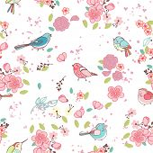 seamless bird theme pattern