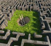 tricky to get out of the maze. 3D concept