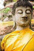 Monuments Of Buddah Wat Yai Thailand