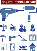 construction repair icons set, vector
