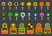 Zombie Apocalypse Map Icons