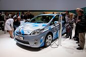 GENEVA - MARCH 8: The Toyota Prius plug-in hybrid preview on display at the 81st International Motor