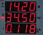 oled display of electricity meter