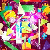 Abstract hypnotic background seamless pattern. Vector illustrati