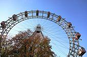 Ferris wheel in Prater park in Vienna, Austria