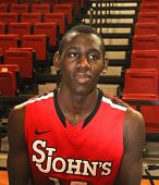 NEW YORK-OCT. 23: St. John's Red Storm guard/forward  Sir'Dominic Pointer during media day on Octobe