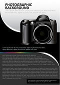 Vector abstract background for brochure or poster with the camera