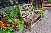 A bench over beautiful outdoor landscape
