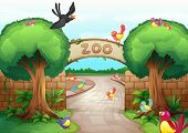 picture of zoo  - Illustration of a zoo scene - JPG