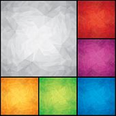 Abstract Colored Design Backgrounds. Crumpled Paper Textures. Vector EPS 10