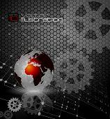 Technik und Kommunikation Konzept Hintergrund - Vektor-illustration