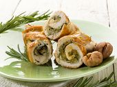 stuffed roll of turkey with chestnut and rosemary
