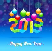 Happy New Year 2013 - holidays vector illustration