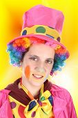 Funny clown, child, girl, female