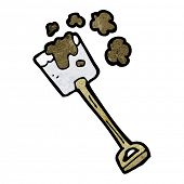 cartoon digging shovel