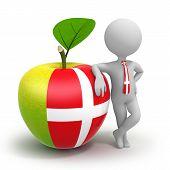 Apple With Denmark Flag And Businessman