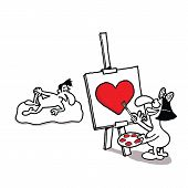 picture of nu  - Humorous vector cartoon about Valentine - JPG