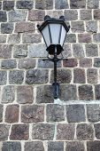 Lamp Grunge Stone Wall Background