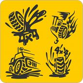 Off-Road symbols - vector set