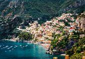 Erstaunliche Amalfi-Küste. Positano, Italien