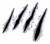 picture of nail-design  - An illustration of a monster claw or hand scratch or rip through a metal background - JPG