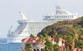 Philipsburg, St. Maarten-july 25 Royal Caribbean,allure Of The Seas, Leaving St. Marten On July 25 ,