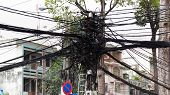 Powerline Tangle In Saigon Vietnam