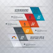 Step by step infographics illustration