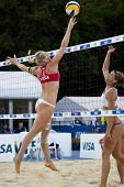08.12.2011 LONDON, ENGLAND, Shauna Mullin (GBR) während der FIVB-International-Beach-Volleyball-tourn