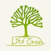 Pulgar verde árbol ilustración