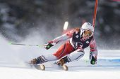LIENZ, AUSTRIA 28 December 2009. Gasienica DANIEL POL speeds down the course while competing in the