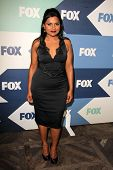 SLOS ANGELES - 1 de AUG: Mindy Kaling chega na festa Fox All-Star verão 2013 TCA no Ho SoHo