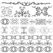 image of quirk  - elements of the pattern on a white background - JPG