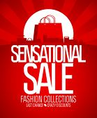 foto of attention  - Sensational sale design template - JPG