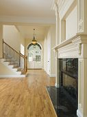 Luxury Home Foyer And Fireplace