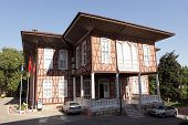 BURSA, TURKEY - AUGUST 20: Old building of municipality in Bursa, Turkey on August 20, 2011. The hou