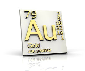 pic of periodic table elements  - Gold form Periodic Table of Elements  - JPG
