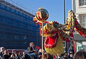 Liverpool, Uk, February 2  2014. Street Parade To Mark Chinese New Year 2014 In Liverpool Uk