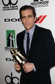 Jake Gyllenhaal at the 17th Annual Hollywood Film Awards Backstage, Beverly Hilton Hotel, Beverly Hills, CA 10-21-13