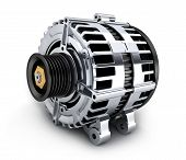 stock photo of dynamo  - Car generator on white background  - JPG