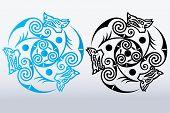 Wolf head tattoo decorative ornament