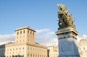picture of emanuele  - Sculptures at the monument to Vittorio Emanuele II  - JPG