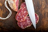 Italian Salame Pressato Pressed Slicing