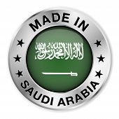 Made In Saudi Arabia Silver Badge
